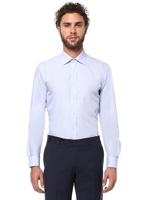 Beymen Collection Klasik Gömlek Mavi